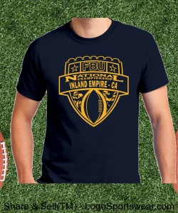 Inland Empire, CA - Navy Tee with Gold Design Zoom