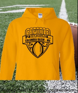 Columbia Basin, WA - Gold Hoodie with Black Design Zoom