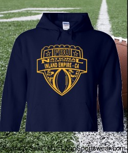 Inland Empire, CA - Navy Hoodie with Gold Design Zoom