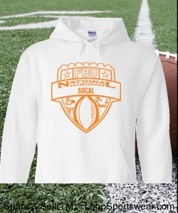 SoCal - White Hoodie with Orange Design Zoom