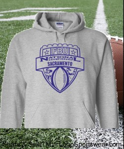 Sacramento - Sport Grey Hoodie with Purple Design Zoom